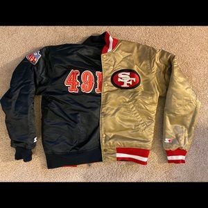 Reversible Starter Gold/Black 49ers Jacket - Small